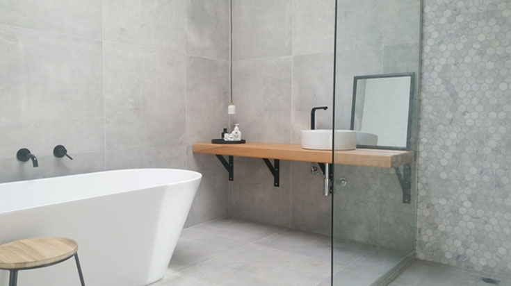 Reasons to Choose Concrete Look Tiles Over Poured Cement for Your Bathroom