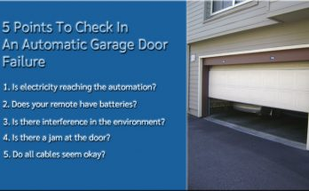 5 Points To Check In An Automatic Garage Door Failure